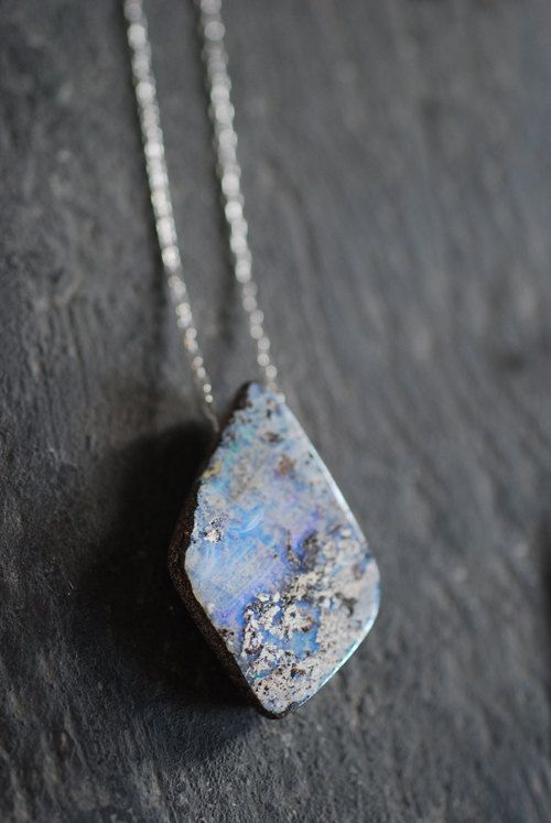 874 best opal images on pinterest opal gemstones and opal jewelry raw boulder opal pendant 8500 via etsy clairvoyance heal eyes aloadofball Images