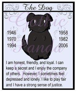 The Dog Chinese Zodiac Badge by GothicPanda on Etsy