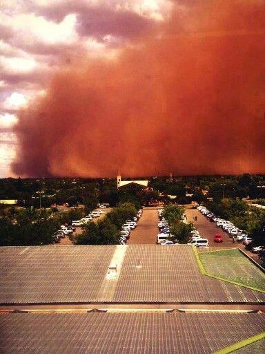 Bloemfontein sandstorm  - 16.10.2014