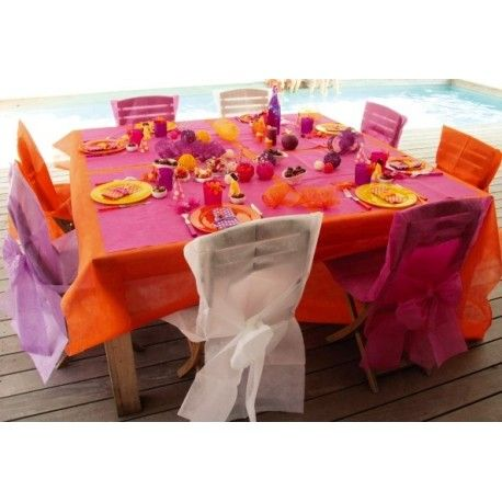 dcoration de table mariage nappe intisse - Nappe Intiss Mariage