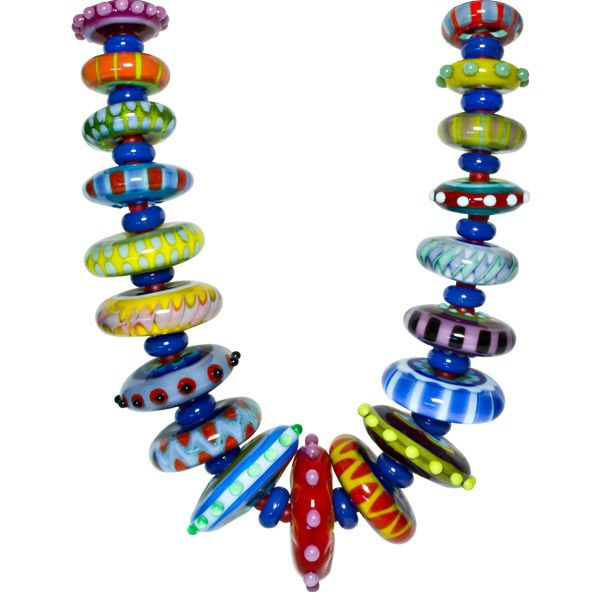 stephanie sersich disc necklace at cmog disc beadsbeaded