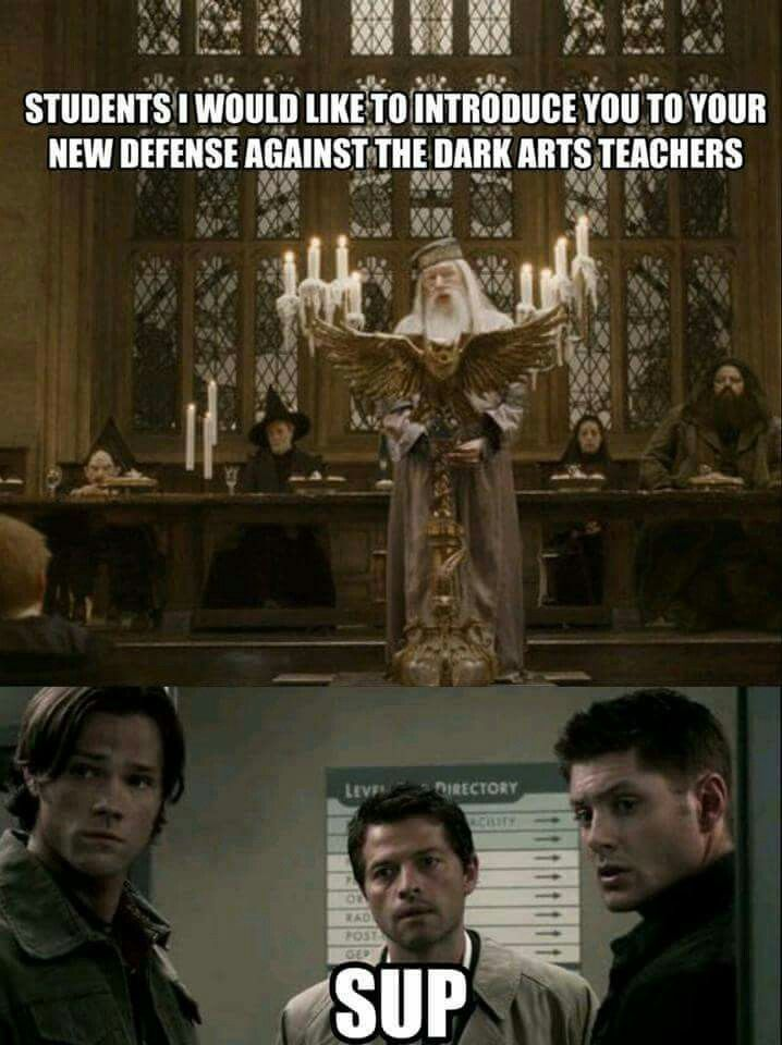 Introducing Professors Winchester, Winchester and er does Cas have a surname? Professor Angel? Lol