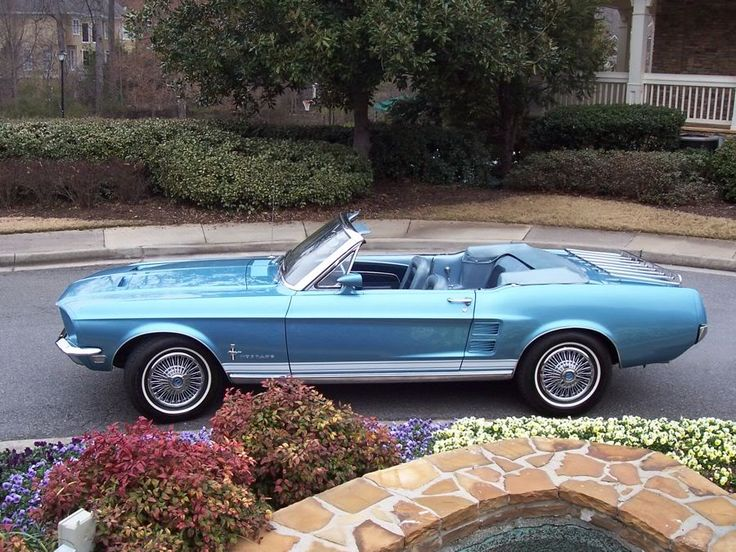 Can I have one? Please? Brittany Blue 1967 Mustang Convertible