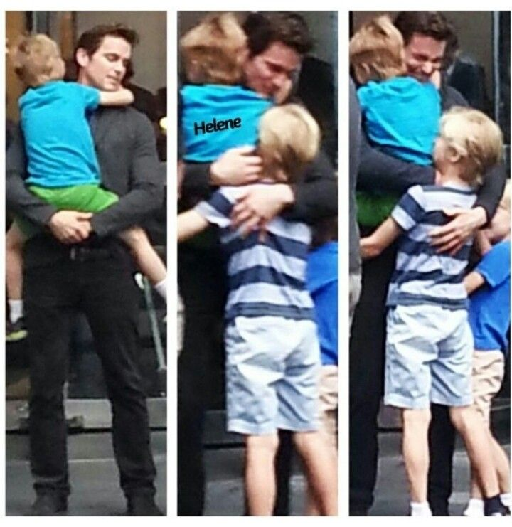 The boys are really growing up. The hugs couldn't look