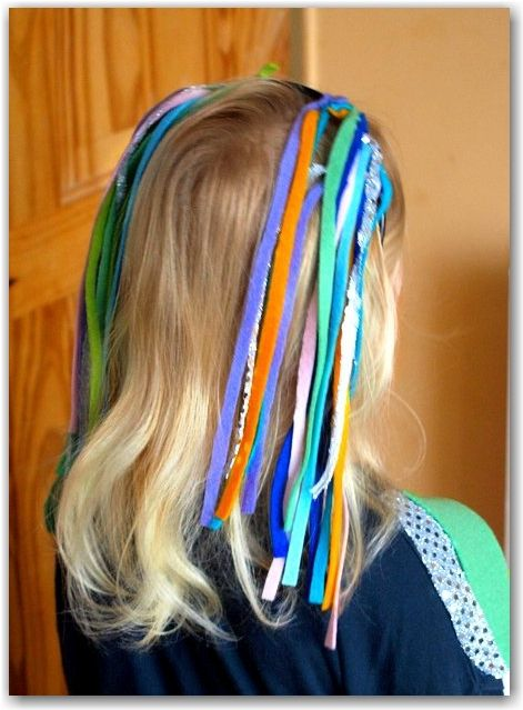 Rainbow Fish Costume - Easy hair embellishment