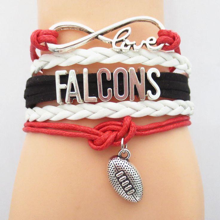 Infinity Love Atlanta Falcons Football Bracelet BOGO