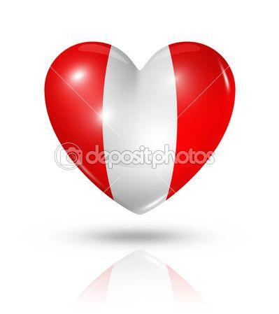 Amor peru, icono de la bandera del corazón — Foto de stock © daboost #31454749