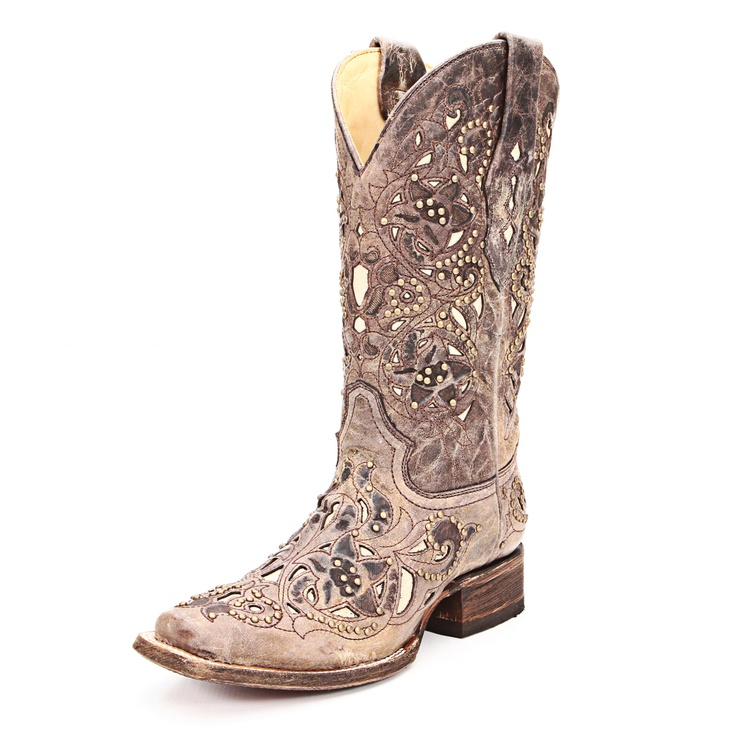 Corral Crater Bone Inlay Cowgirl Boots