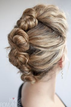 French roll twist and pin tutorial for curly hair