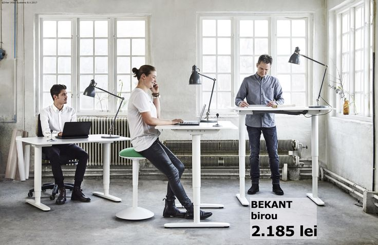 Birourile BEKANT se pot ajusta de la 65 până la 125 cm ca să se potrivească cât mai bine modului în care îți place să lucrezi.