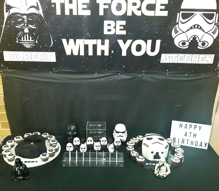 Star wars theme cakes and cake pops