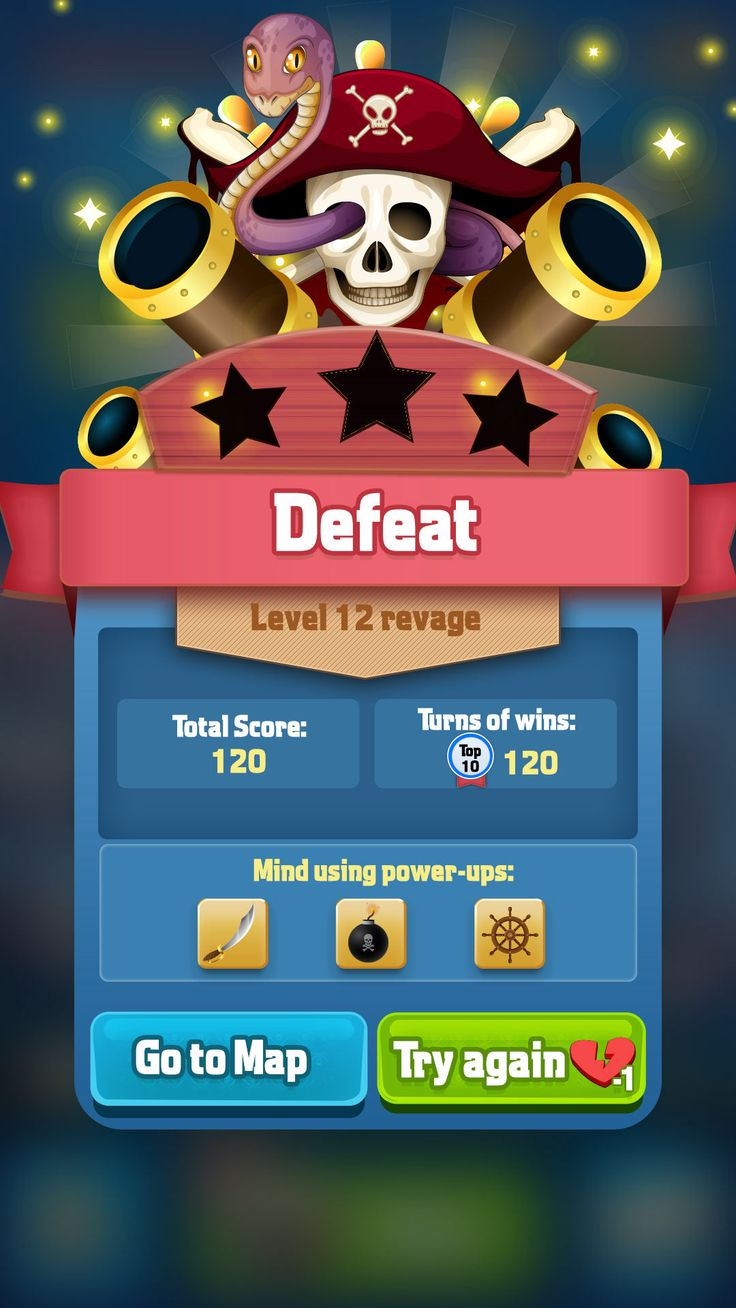 Try Pirate game UI redraw on Behance – Game popups
