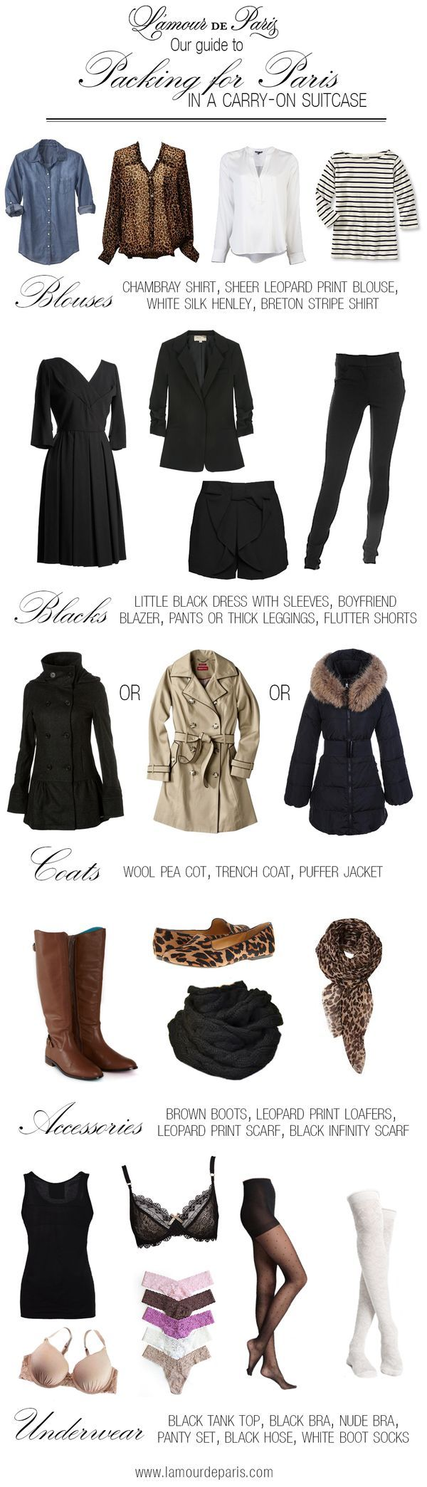 Paris, France or Paris, Missouri, this is a great guide for several outfits with few items.