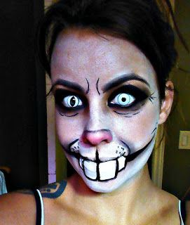 Empress Makeup: Creepy Rabbit Makeup 2.0