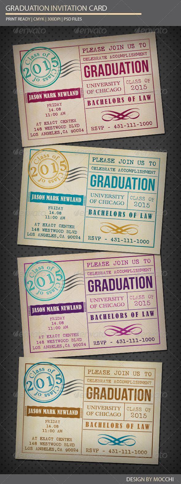 Graduation Invitation Card