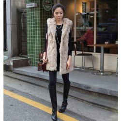 $36.28 Fashion Style Pure Color Cony Hair Design Waistcoat