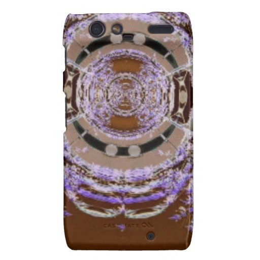 Rings of Purple Willows Abstract Art Droid RAZR Covers