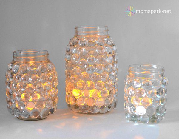 For my youngest daughter who LOVES Mason Jars! DIY: Easy Mason Jar Luminaries