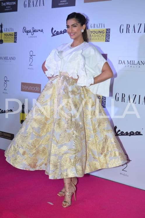Sonam at the Red Carpet Look at Grazia Awards2016.