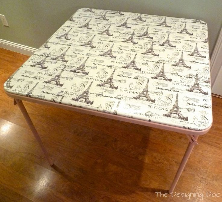 The Designing Doc: DIY: Refinished Card Table And Chairs
