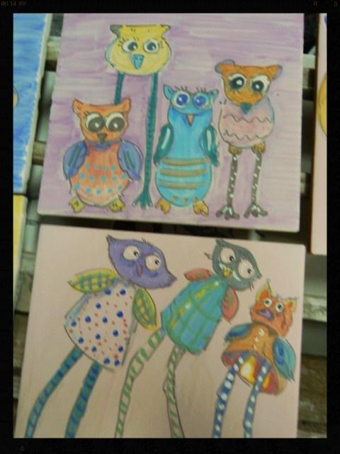 A breve su http://www.etsy.com/shop/LabLiu dipinti di gufi e civetti in ceramica!