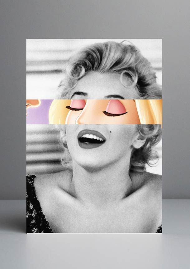 """Celebridades Animadas"", une série de mashups du graphic designer et art director portugaisRui Pinho, qui s'amuse à imaginer des parallèles entrecélébr"