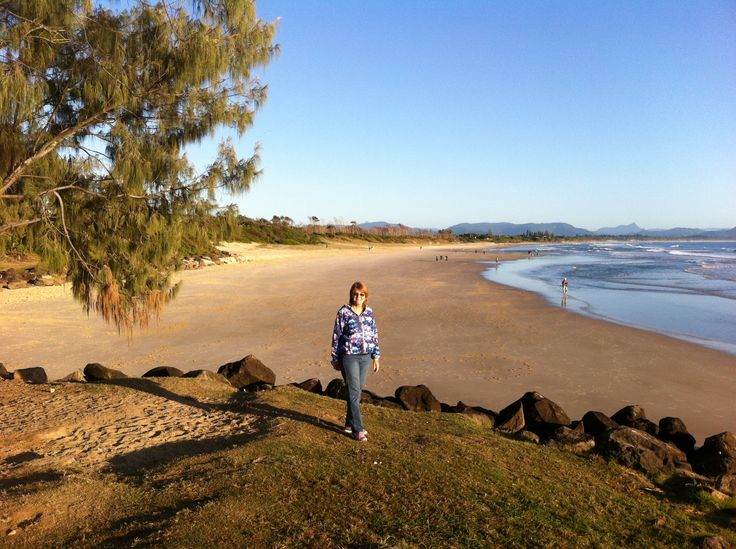 An early morning stroll along the foreshore at Byron Bay