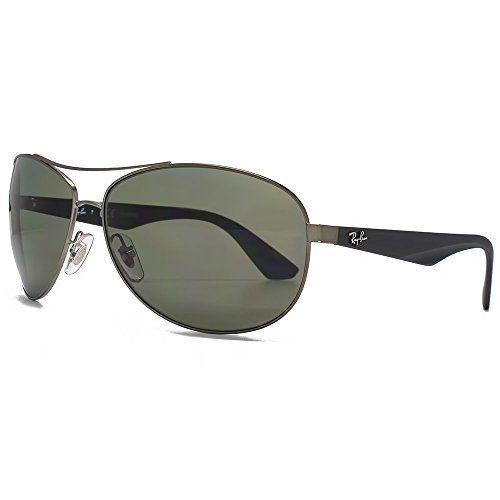 70822e7bb7 Ray-Ban Active Lifestyle Aviator Sunglasses in Matte Gunmetal Green  Polarised RB3526 029/9A