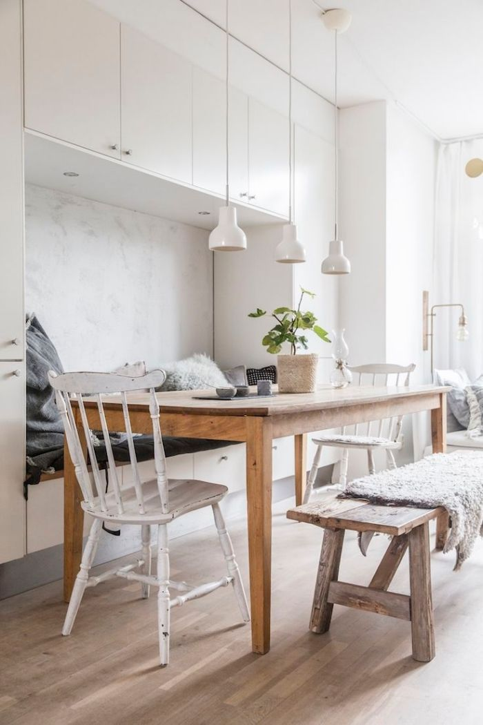 Design Scandinave Décoration De La Cuisine Ouverte Vers La Salle à
