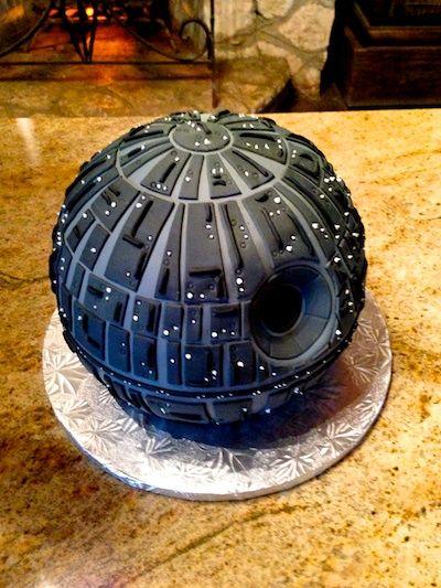 star wars grooms cake #deathstar #starwarscake