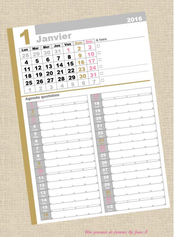Organisateur calendrier