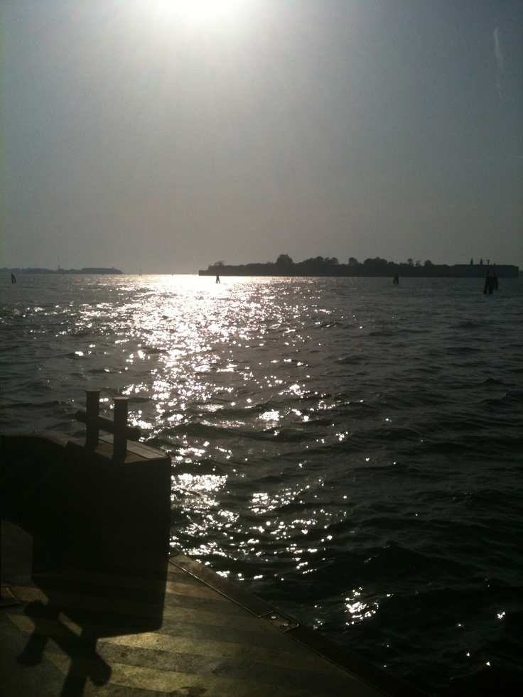 laguna al tramonto