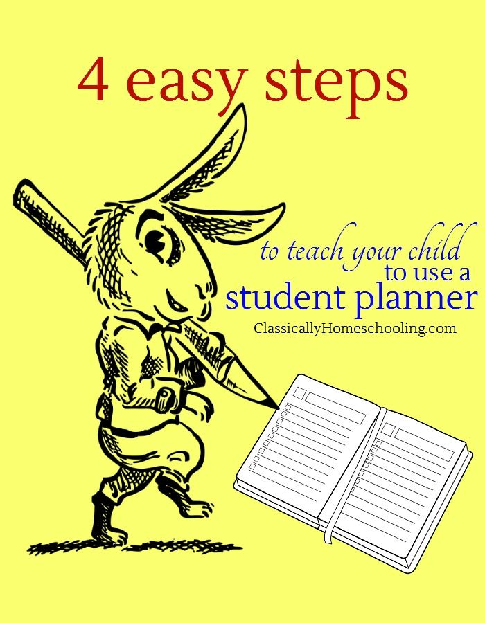 It's easy to teach your child to plan their week if you use these easy steps to teach your child how to use a student planner