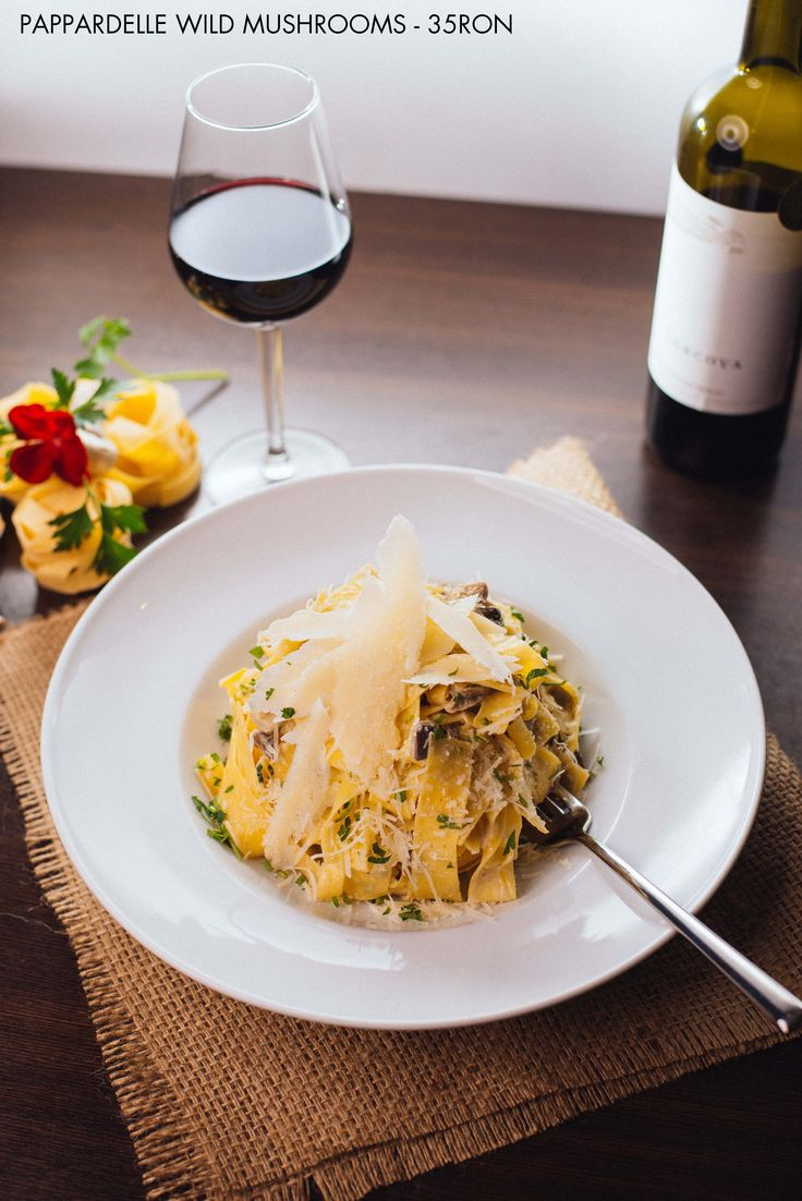 Pappardelle Wild Mushrooms - This deliciously rich pasta recipe makes great use of seasonal wild mushrooms, fresh pappardelle and herbs.