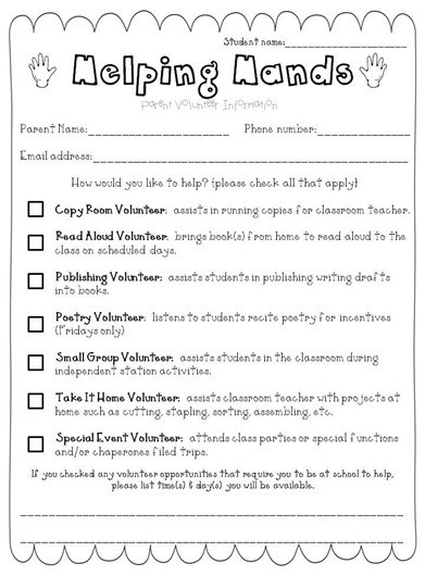 The  Best Parent Volunteer Letter Ideas On   Parent