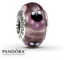 Pandora Ale S925 Pandora Ladybugs Murano Glass Charm Lavender.
