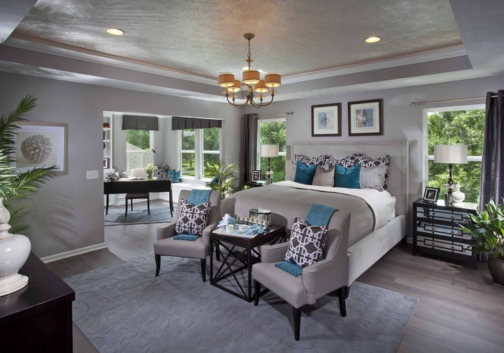 Elegant From The Dream Model Home We Saw...I Like The Gray Walls With The Dark  Furniture And Teal Accents   For The Home   Pinterest   Dark Furniture,  Teal Accents ...