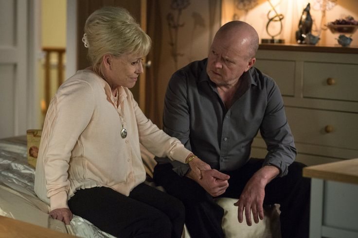 (PHOTO: BBC Pictures)  Everything We Know About Peggy Mitchell's 'EastEnders' Return  What's the storyline? For those of you who need a refresher, here's what's happening: Peggy made a brief appearance in January, revealing that her cancer is back. This month, viewers will see her decide to decline treatment, opting to enjoy the time