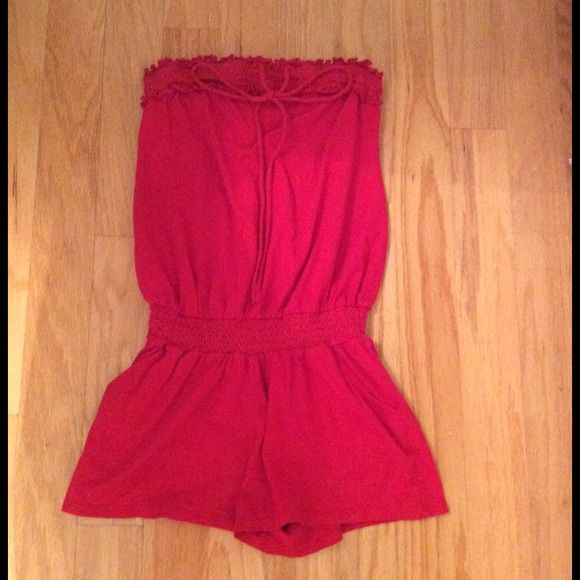 Express red romper Gorgeous red romper from express in a size x-small. Has been worn, but no known stains/imperfections. Express Other