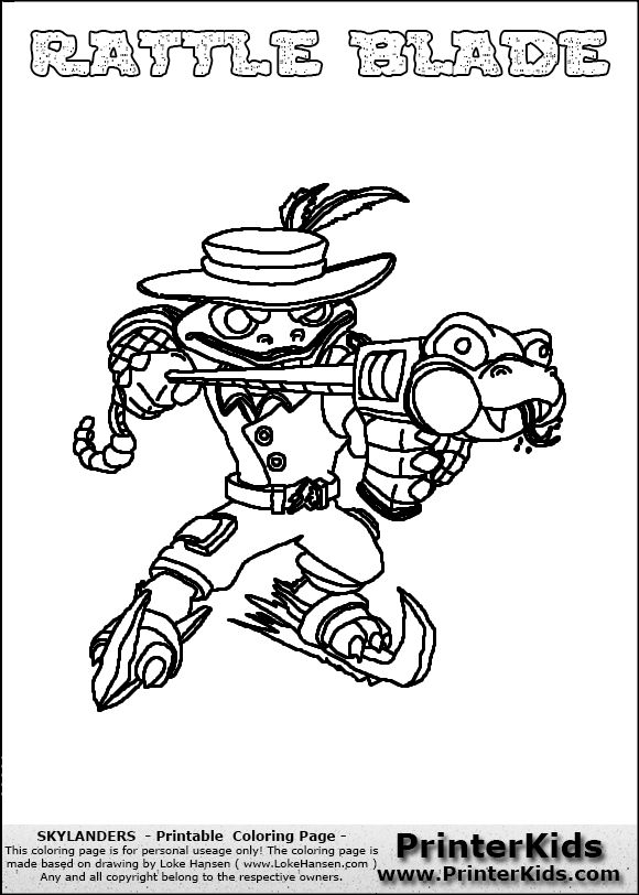 skylanders coloring pages freeze blade - photo#13
