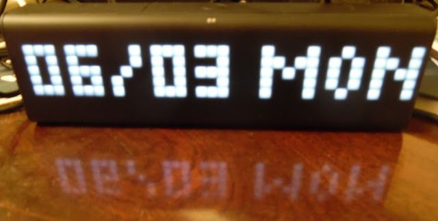 This clock is the Internet in a box  I recently bought a LaMetric Time. What is it?LaMetric Time is an Internet connected clock with a difference. I like to think of it as a smart watch in clock form. A smart watch for your desktop. It has just three buttons (forwards backwards and 'action') and a cheerful LED display. Although it is a clock it differs from your current wall or desk clock with one phrase: 'App store'.  The LED technology in the LaMetric Time defeats all ut my best attempts…