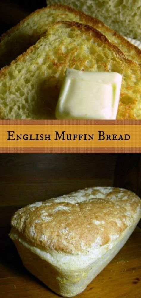 "Yum!!! ""This English Muffin bread recipe has that coarse, bumpy texture with all the nooks and crannies and craters that you need to hold the melty butter and sticky honey that you are going to slather on it. Absolutely the best ...ever."" From RestlessChipotle.com"