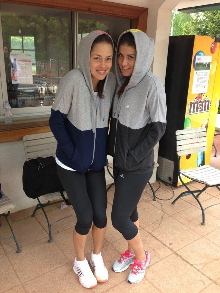 Sorana Cirstea and Ana Ivanovic @ Roland Garros 2013-05-28 (rain delay in Paris) #RolandGarros #Cirstea #Ivanovic #WTA