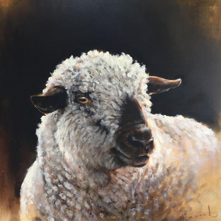 Oilpainting by www.nanoukweijnen.com #hampshiredown #sheep