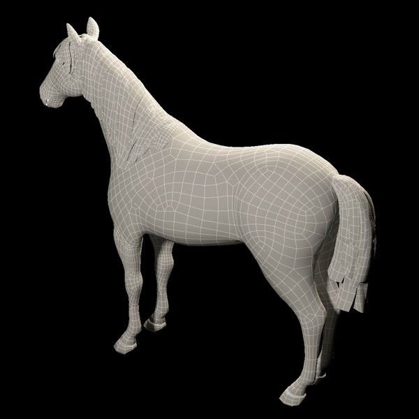 Horse is a high quality 3d model to add more details and realism to your rendering projects.