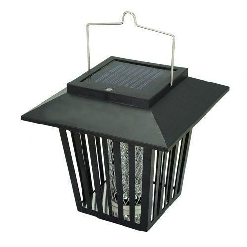 Solar Powered Bug/Pest/Mosquito Killer Zapper Light with Design of Retro Lantern Outdoor and Indoor-Black