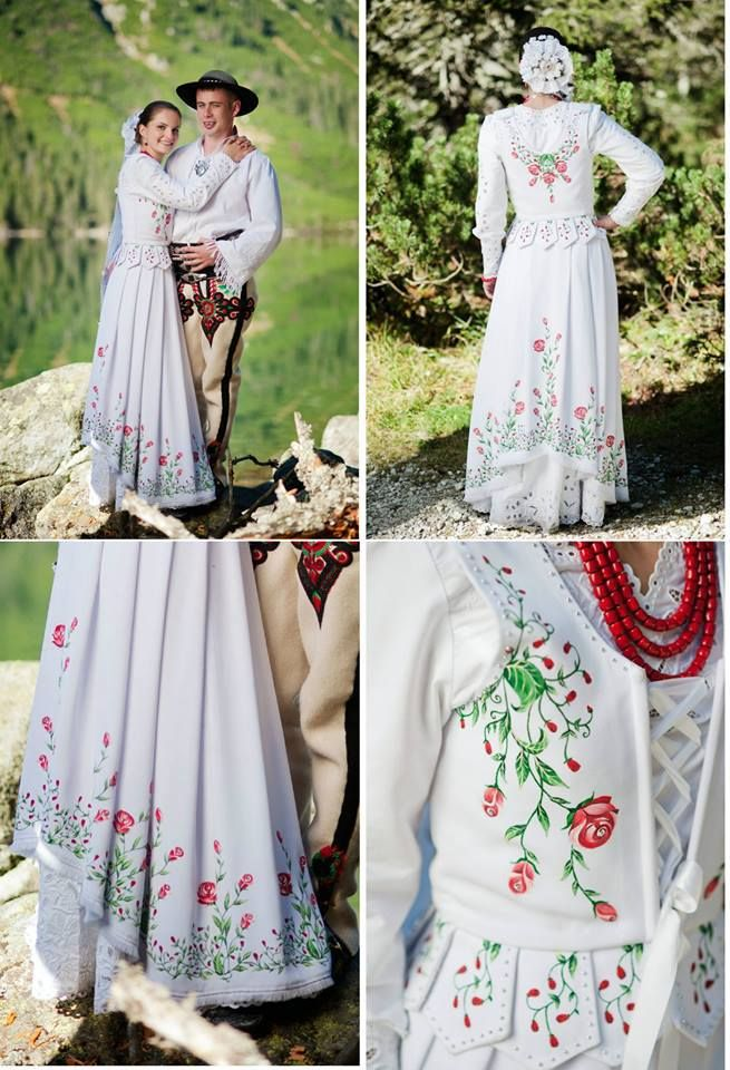 Growing trend: handpainted wedding dresses inspired by folklore of Polish…