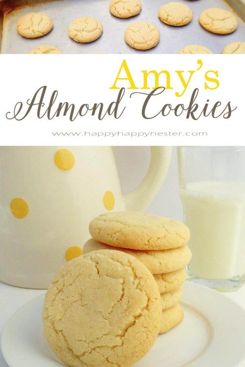 These delicious Almond Cookies are my mom's old recipe. They are my family's favorite and every batch comes out perfect. They freeze well and are easy to make.