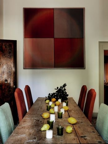 Dining Room Table and upholstery dining chair inspiration. For more ideas: http://www.brabbu.com/en/inspiration-and-ideas/