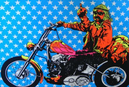 easy rider, middle finger